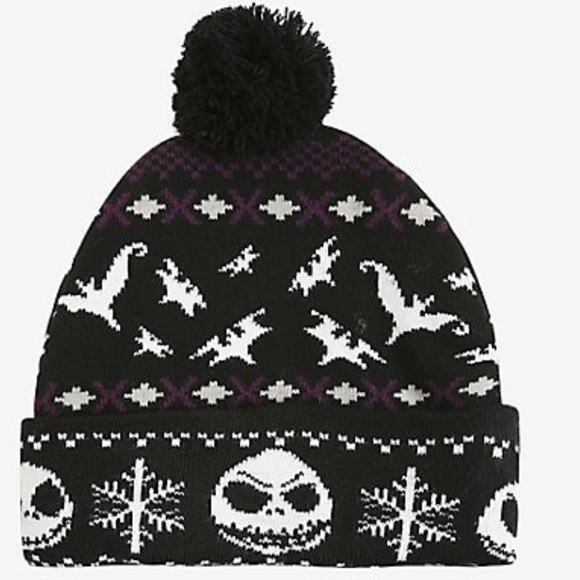 5cfa7aa67aa55 Nightmare Before Christmas Fair Isle Pom Beanie